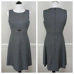 TAHARI ASL Gray Sleeveless A-Line Career Dress